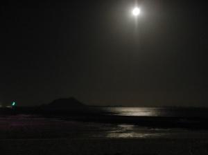 Luna llena con Isla de lobos