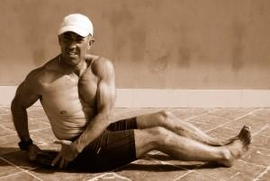 Giro de cintura a recojer la pesa