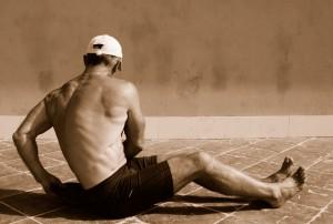 Giro  de cintura a recojer pesas 2