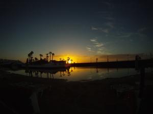 Puesta de sol en Costa teguise